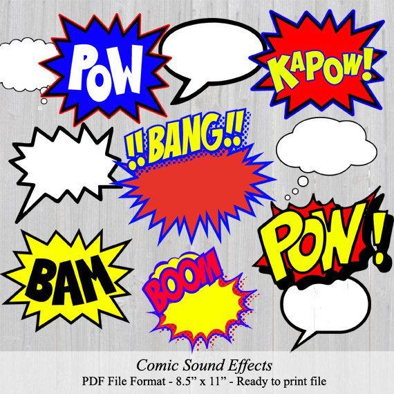 DIY Comic Sound Effects.