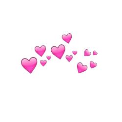photobooth hearts transparent.