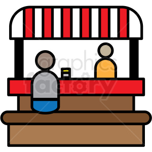 food booth icon clipart. Royalty.