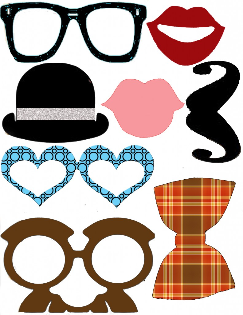 Photo booth print clipart clipground printable photo props pronofoot35fo Gallery
