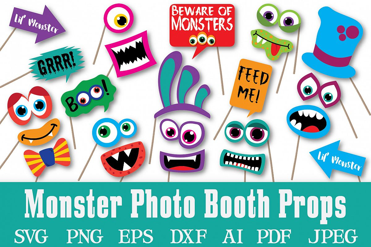 Monster Photo Booth Props.