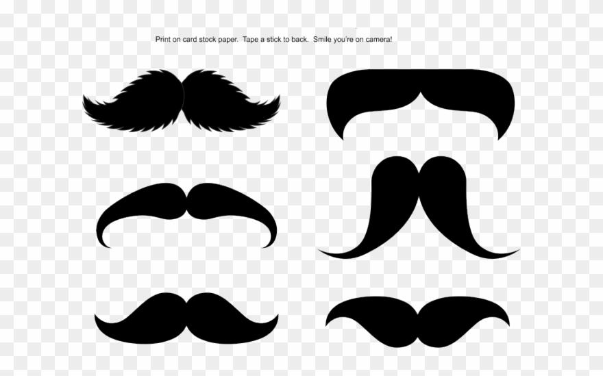 Mustache Clipart Stick Printable.