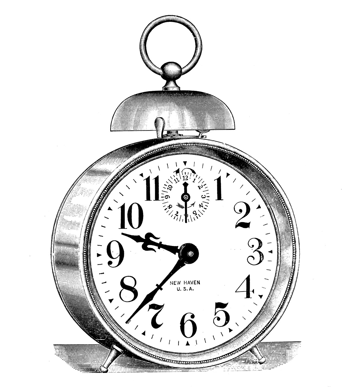 steampunk clock clipart #2
