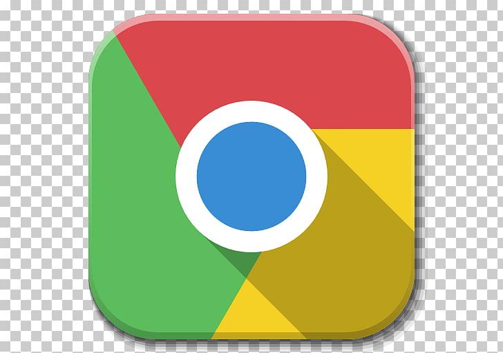 Symbol yellow flag, Apps Google Chrome, Google Chrome app.
