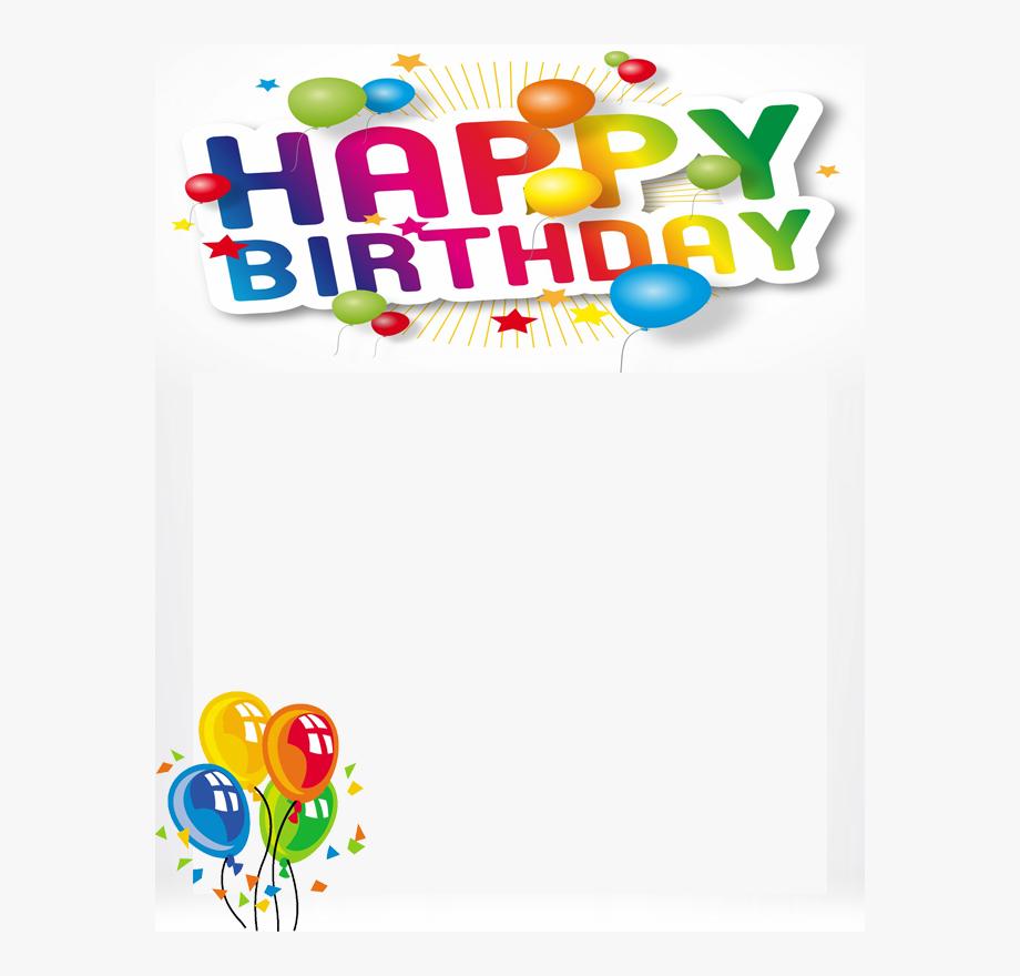 Free Happy Birthday Frame.
