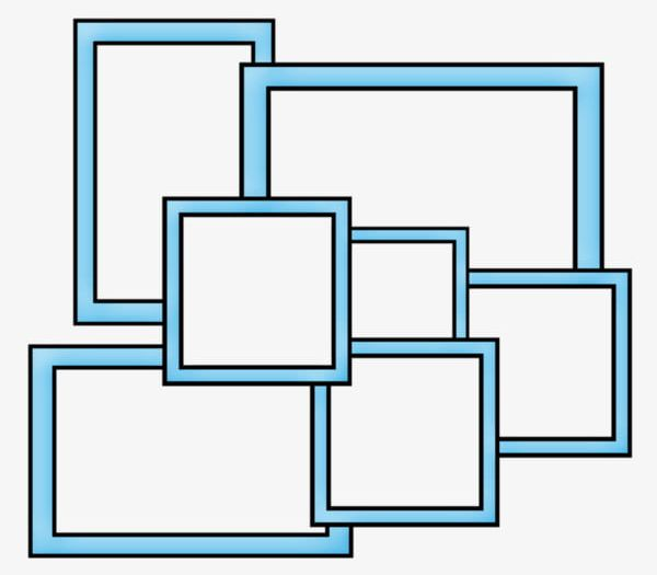 Collage Frame PNG, Clipart, Blue, Blue Border, Border.