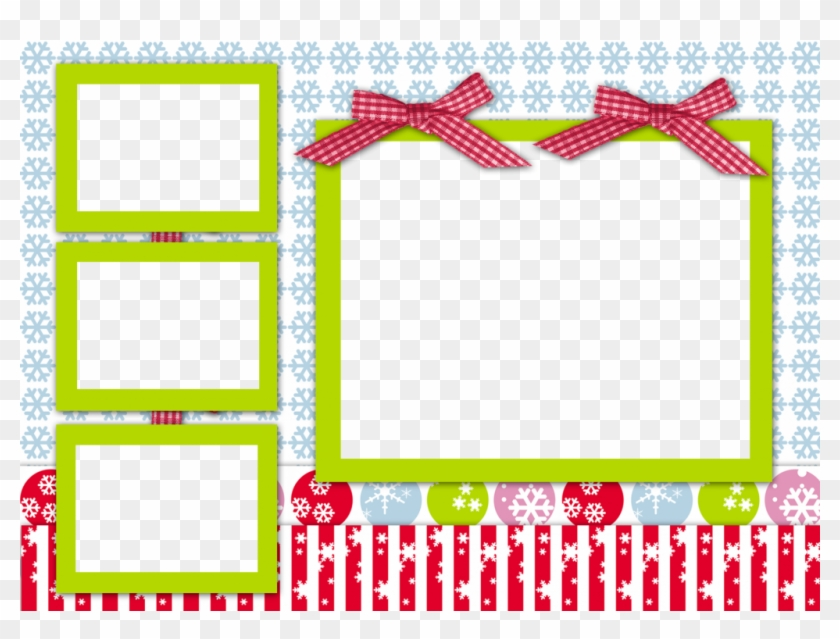 Christmas Picture Collage Template.