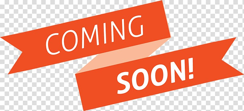 Coming soon text, Coming Soon Orange Banner transparent.