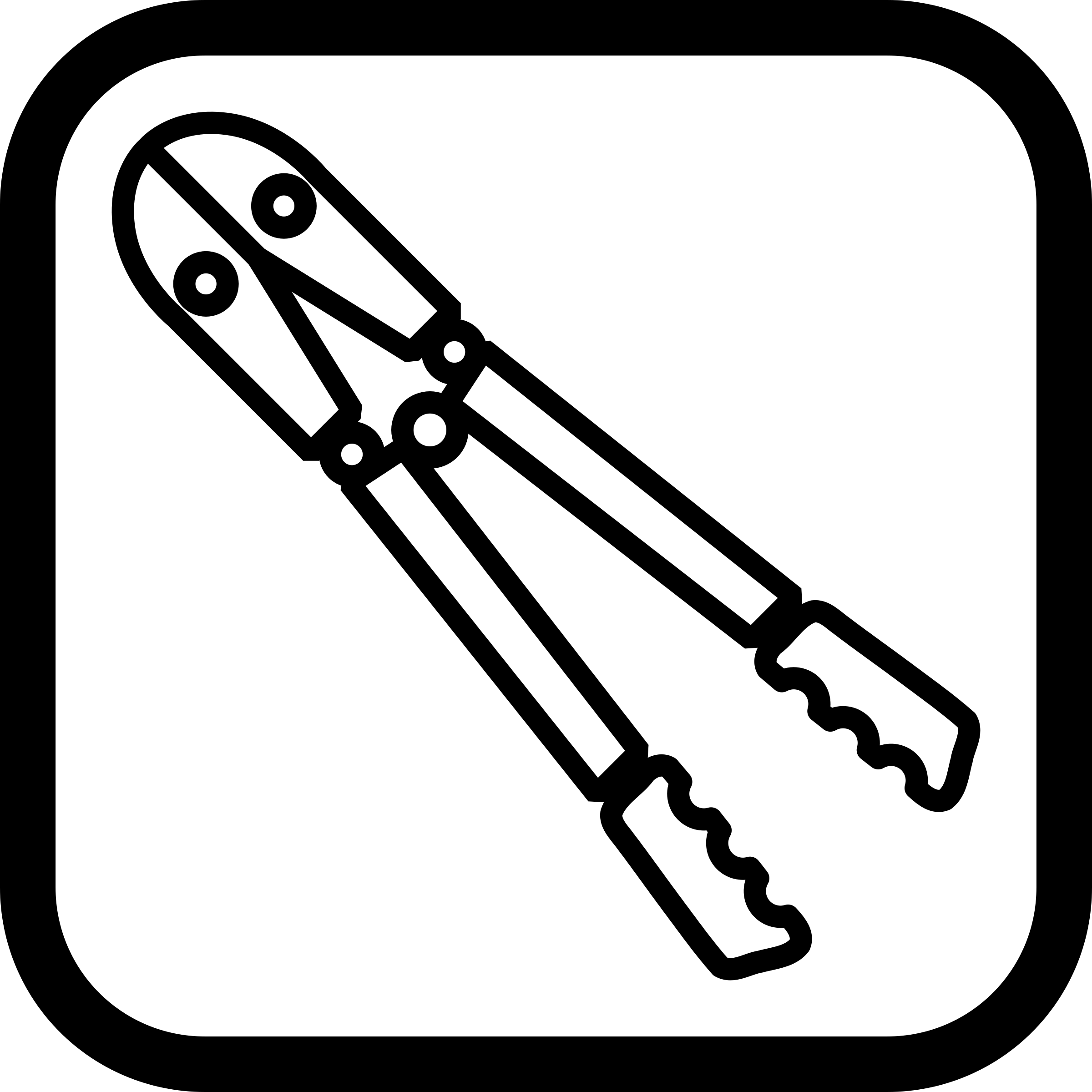 Bolt Cutter Icon Vector Clipart image.