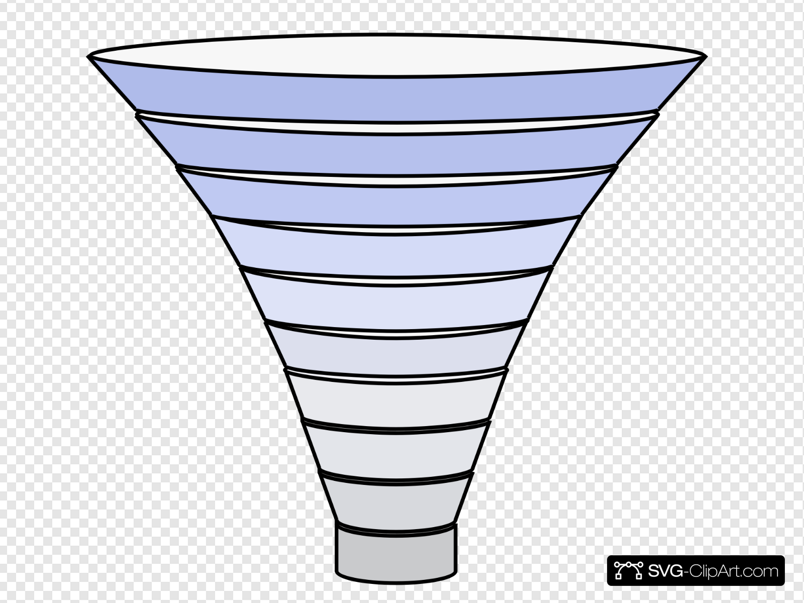 Funnel Tier Blue Filter Clip art, Icon and SVG.