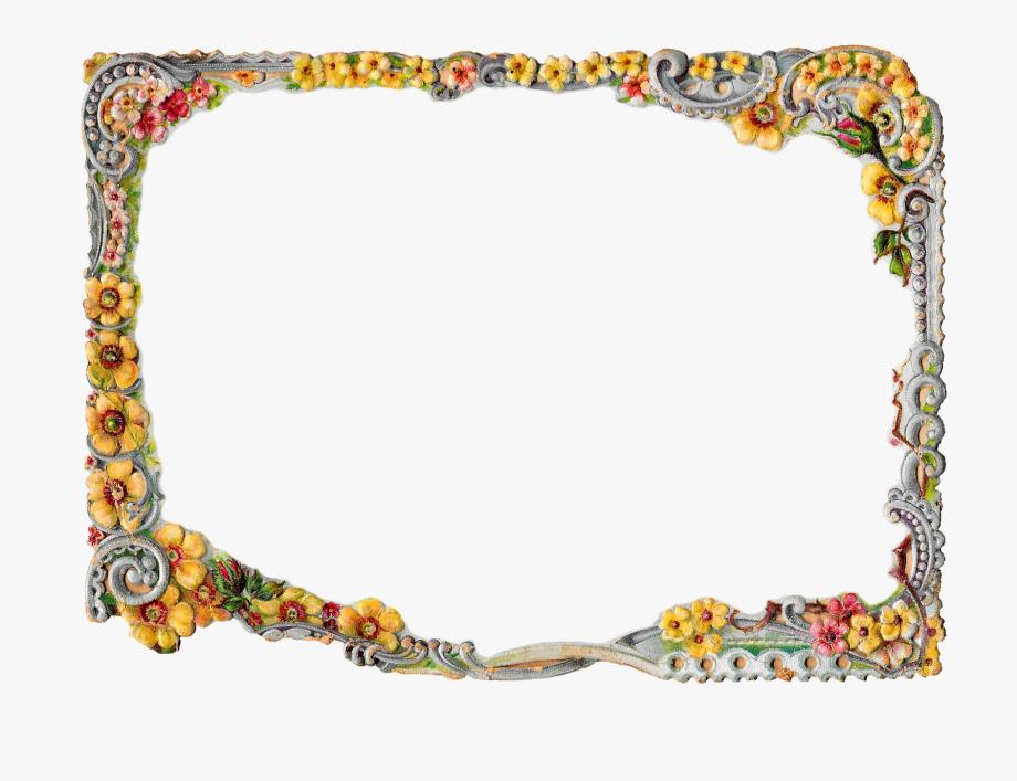 Printable Flower Frame Digital Crafting Floral.