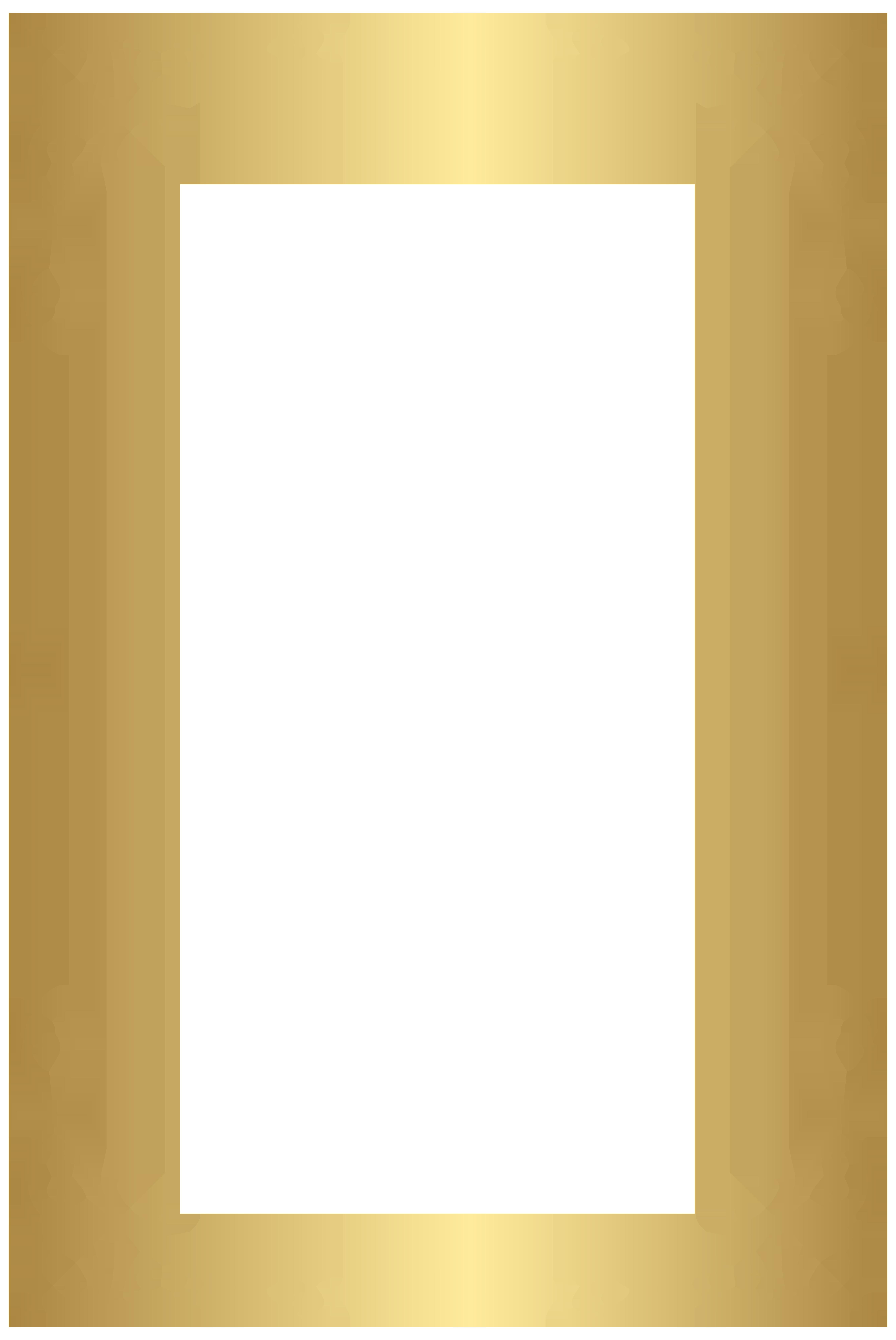 Decorative Frame Border PNG Clip Art Image.