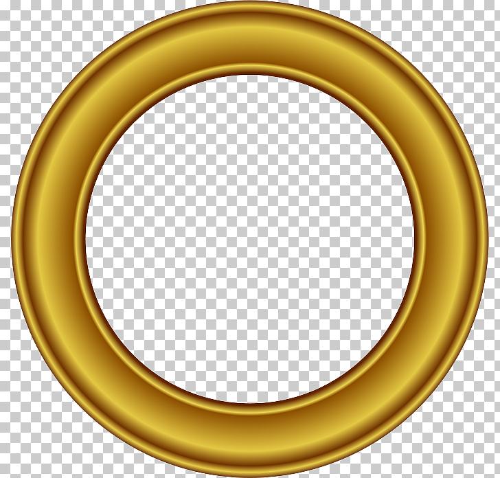Frame Circle Gold , Golden Round Frame Free , round beige.