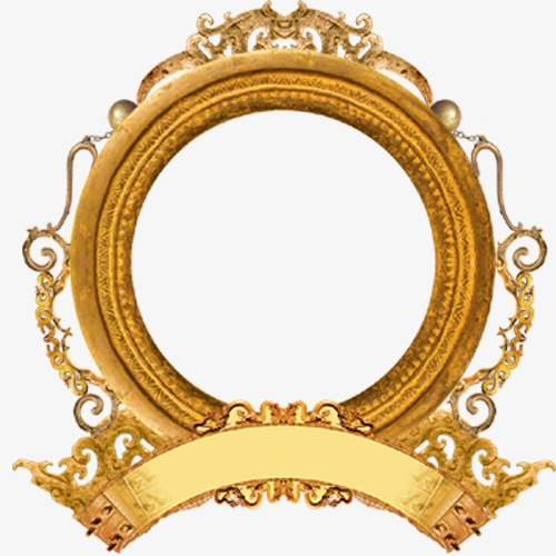 Round Frame, Round, Yellow, Frame PNG Transparent Clipart.