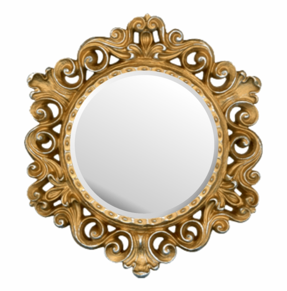 Gold Round Picture Frame , Png Download.