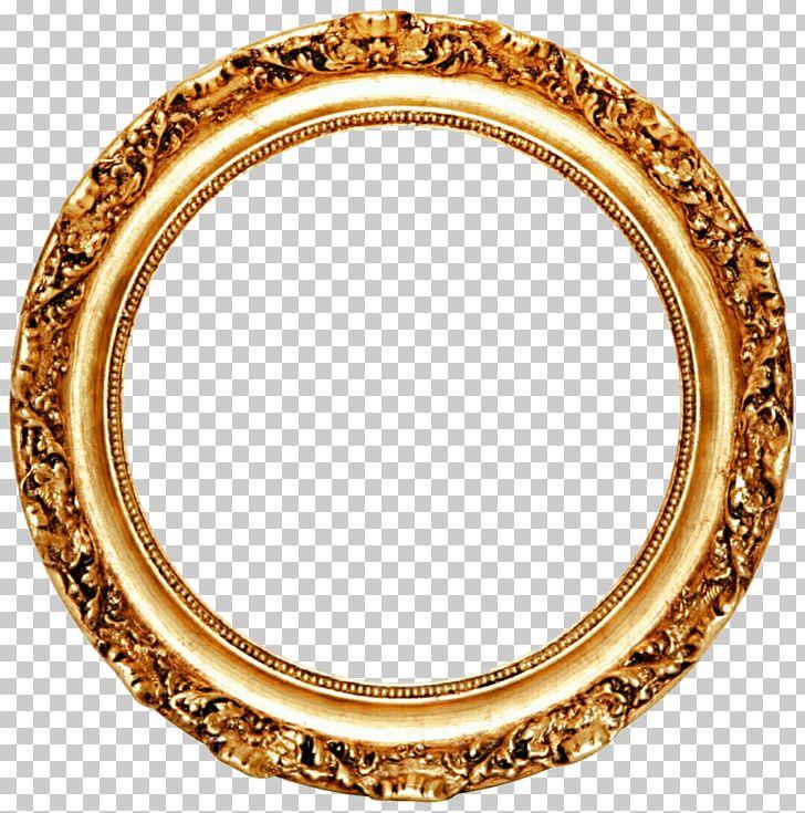 Frame Mirror Circle Gold Leaf PNG, Clipart, Border Frames.