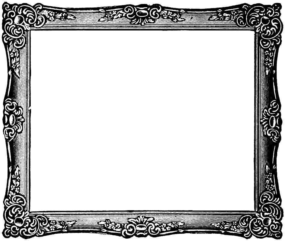 Free Vintage Frame Clip Art Image.