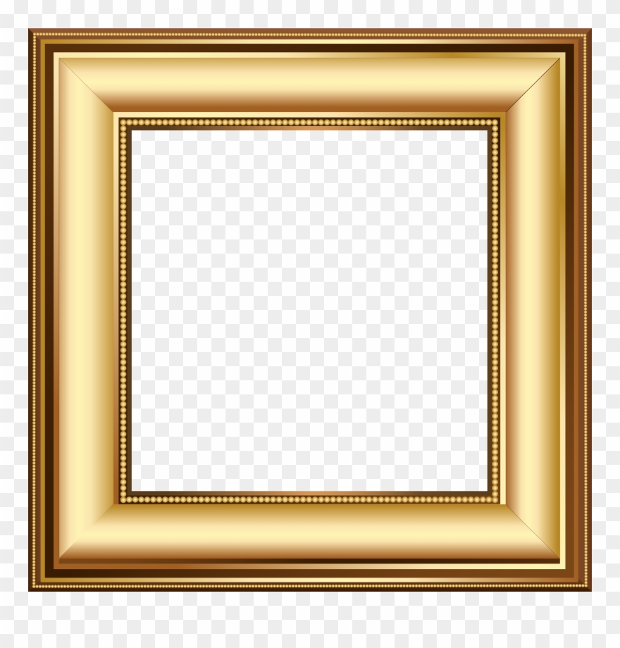 Gold And Brown Transparent Photo Frame.