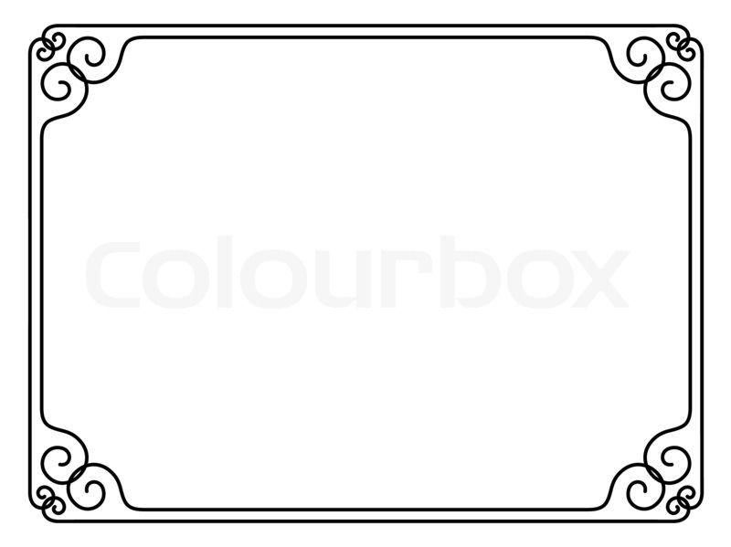 Ornamental decorative frame.