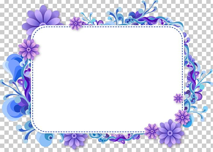 Frames Floral Design PNG, Clipart, Art, Blue, Blue Flower.