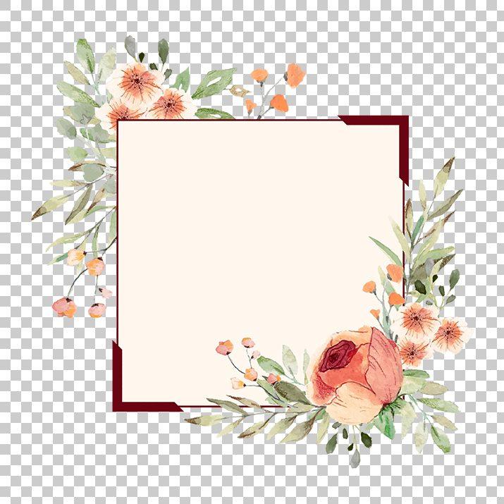 Flower Border, Flower Frame PNG Image Free Download.