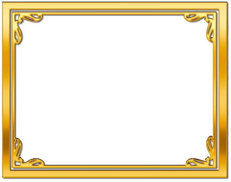 Download Gold Frame PNG Picture.