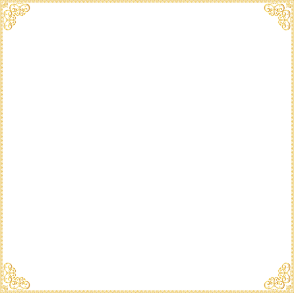 Gold Frame PNG Images Transparent Free Download.