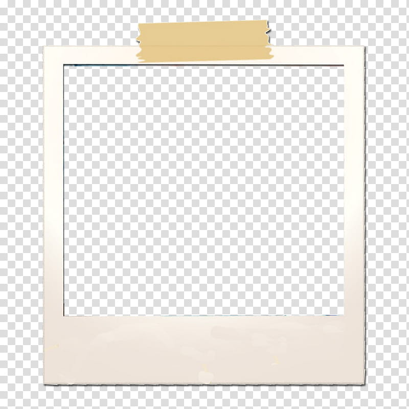 Polaroid, square white frame transparent background PNG.