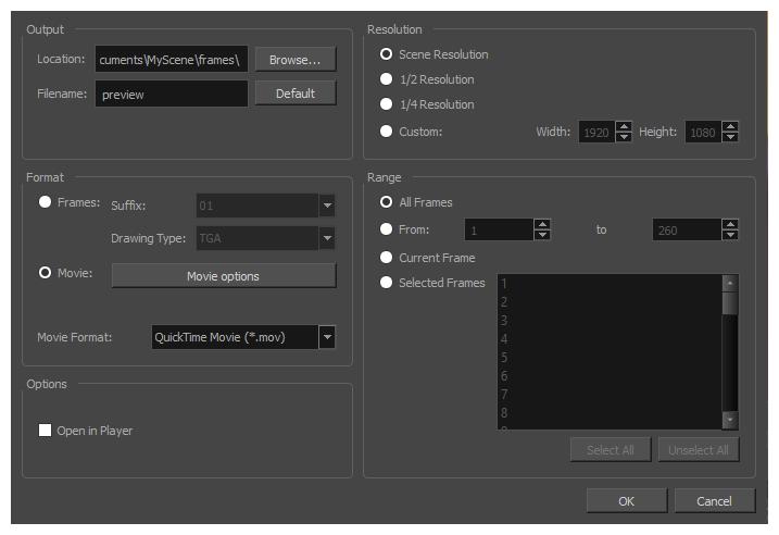 Harmony 15.0 Advanced Documentation: Exporting OpenGL Frames.