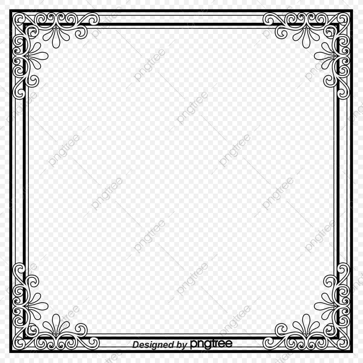Picture Frame Vector Free Download, Border Frame, Shading.