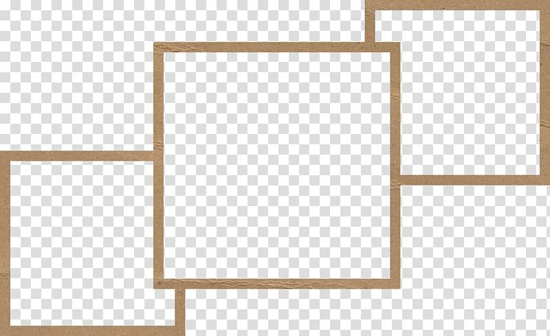 Brown collage frame illustration, Drawing frame, Sketch.