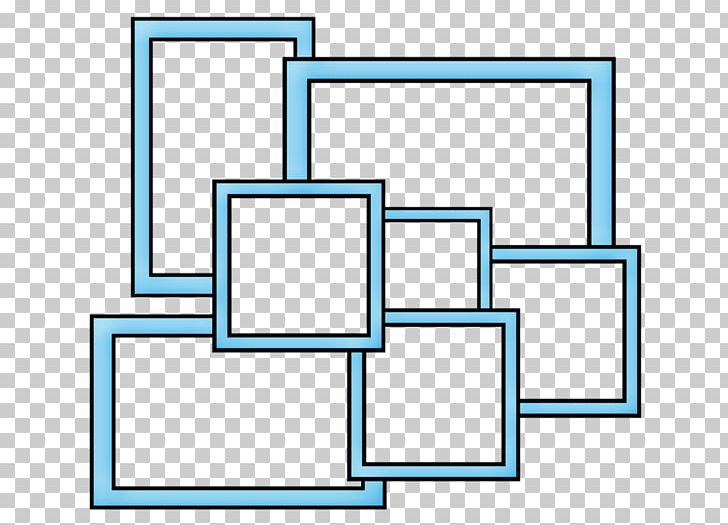Collage Frame PNG, Clipart, Area, Blue, Blue Border, Border.