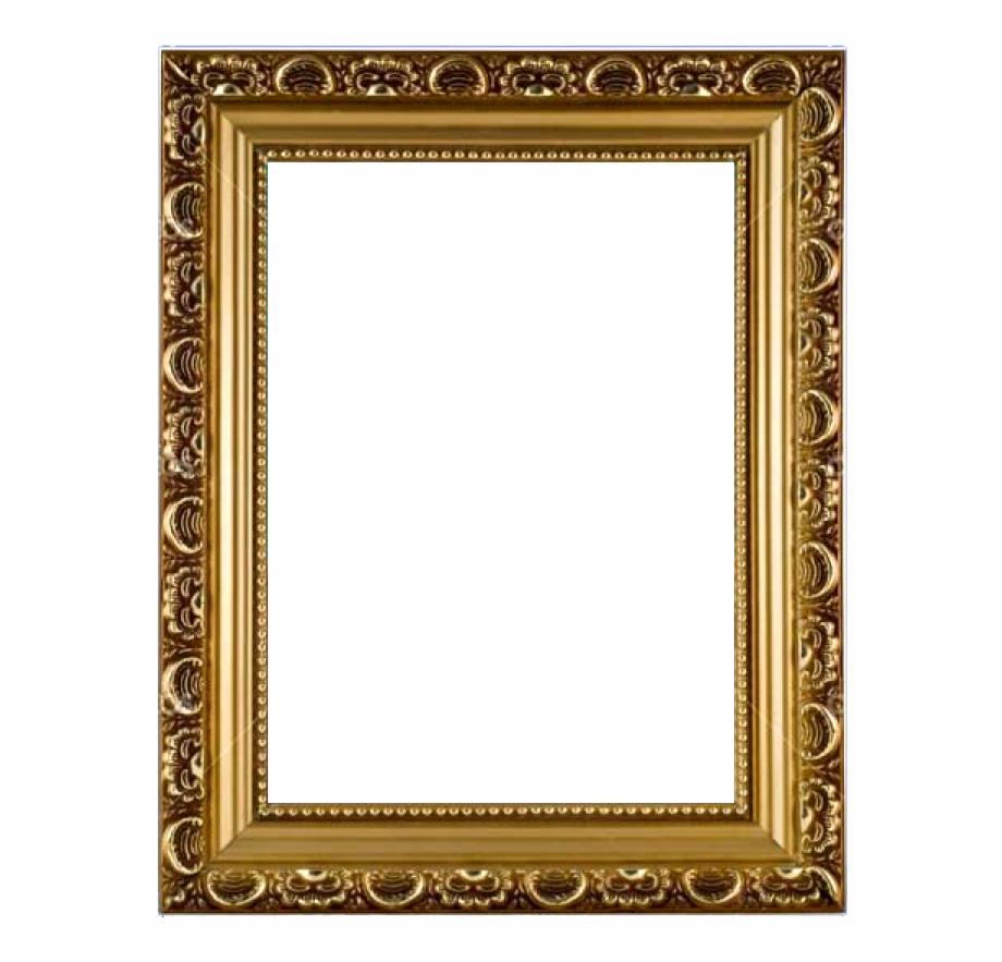 Golden Photo Frame Png.