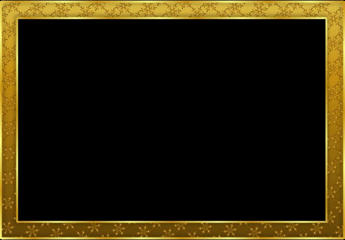 Golden Frame Png (+).