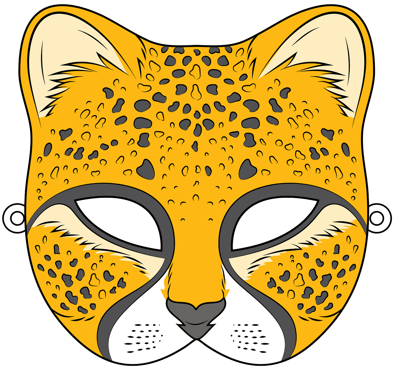 Cheetah mask clipart. Free download..