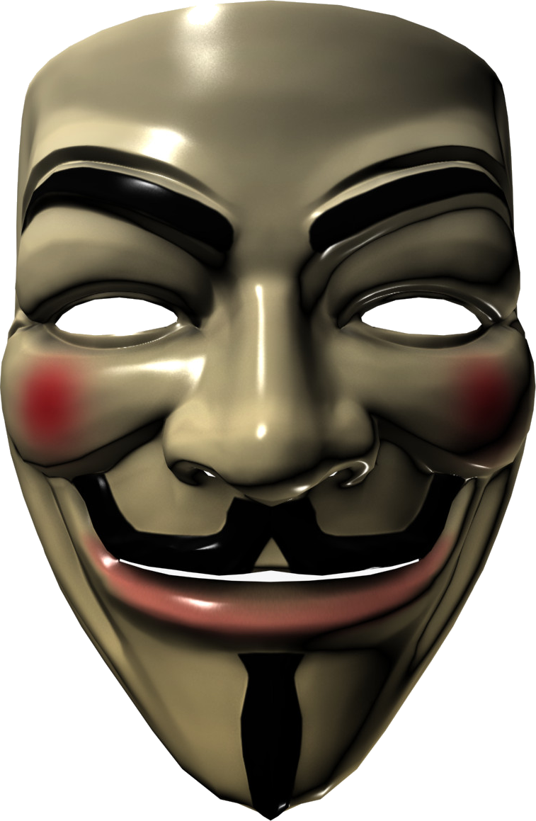Anonymous mask PNG images free download.
