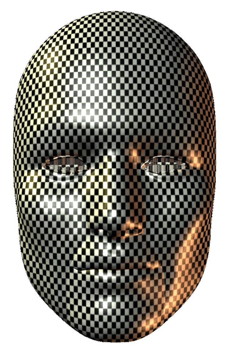 Squares Carnival Mask PNG Clip Art Image.