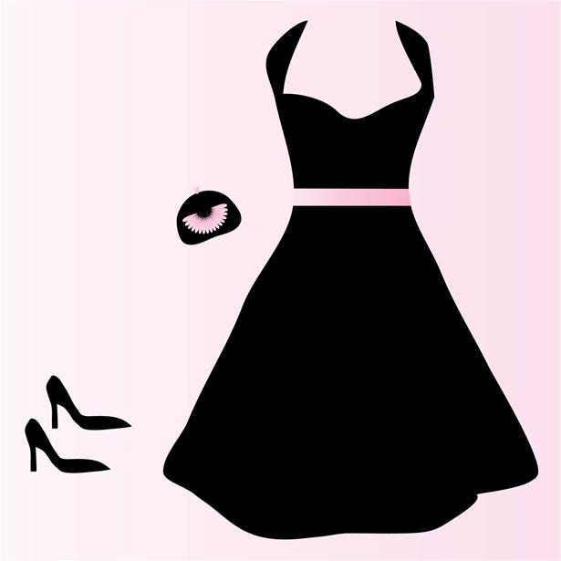 Model In Dress Clipart.