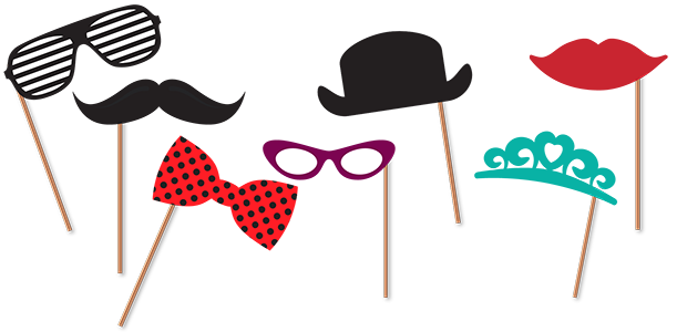 Photo Booth Props Png Vector, Clipart, PSD.