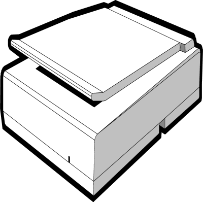 Scanner clipart black and white.