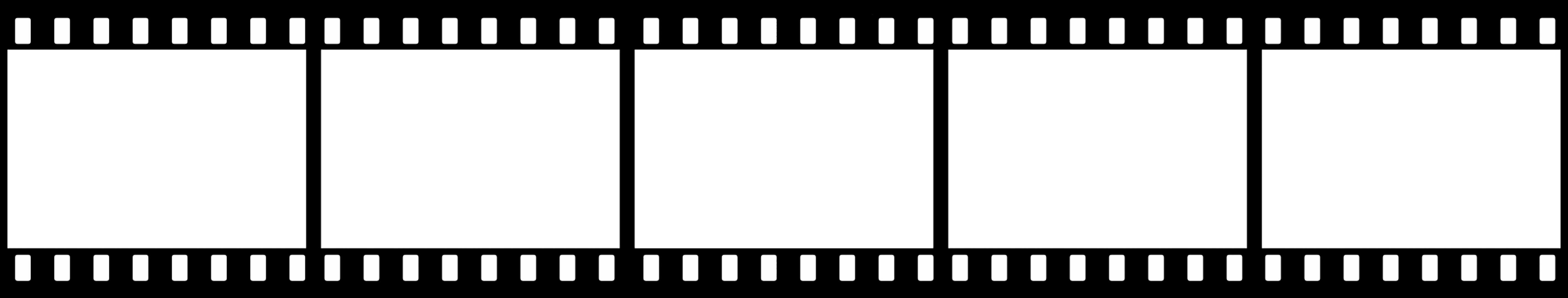 Black And White Film Strip PNG Transparent Black And White.