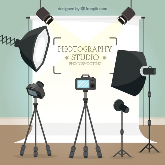 Photography studio background Vector.