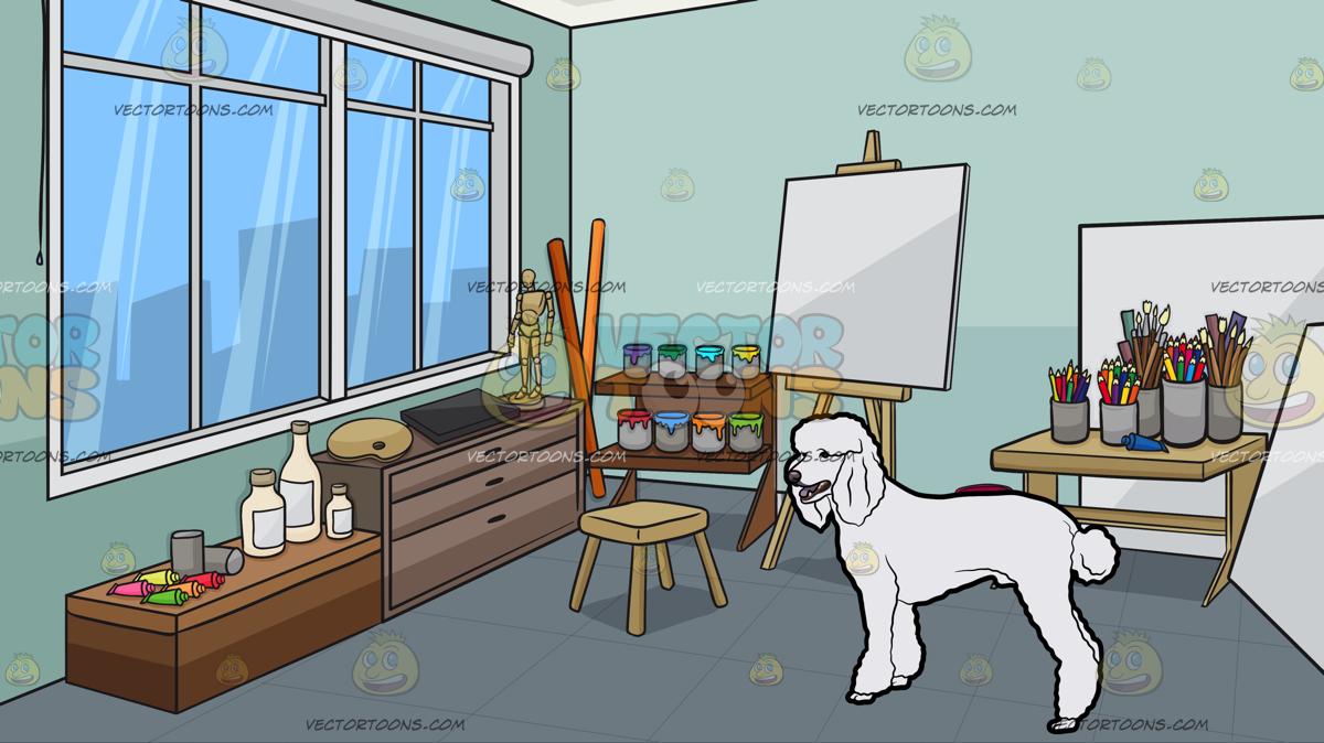 Art Studio Clipart.