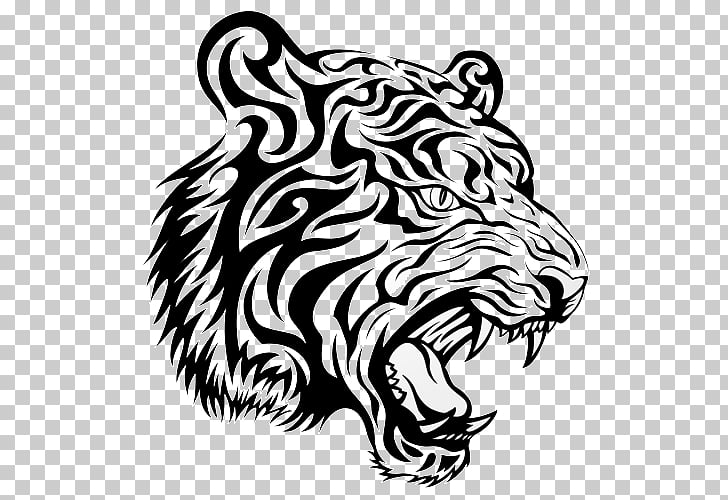 Tattoo PicsArt Photo Studio , tattoo, black and white tiger.