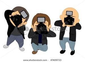 Paparazzi Taking Pictures Clipart Image.