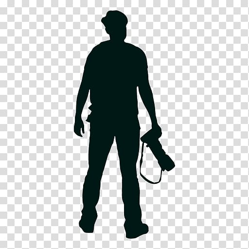 Silhouette grapher, taking transparent background PNG.