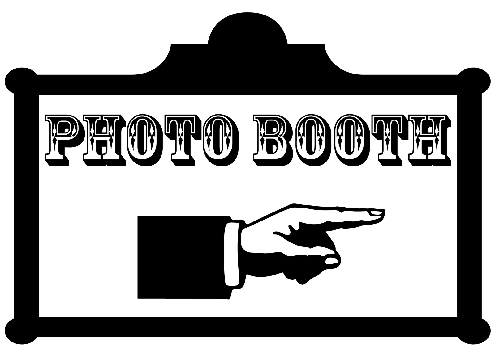Photo Booth Sign Clipart.