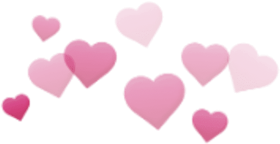 Download hearts cute aesthetic pink stickers transparent.
