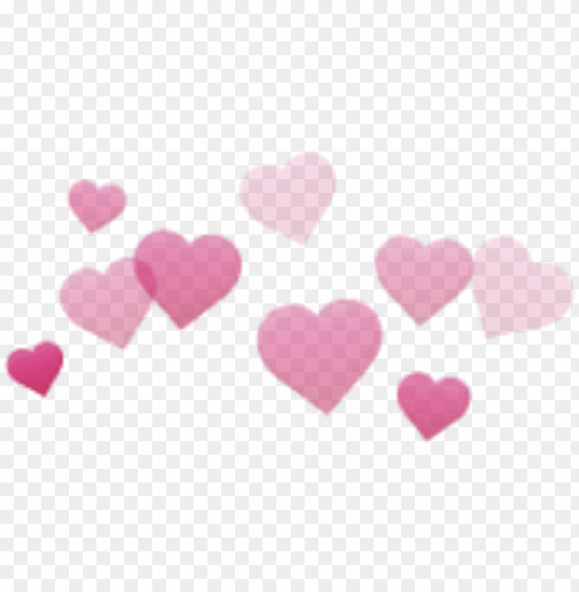 hearts cute aesthetic pink stickers transparent filter.