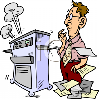 Broken Photocopier Clipart.